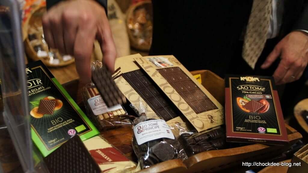 Stand au salon du chocolat